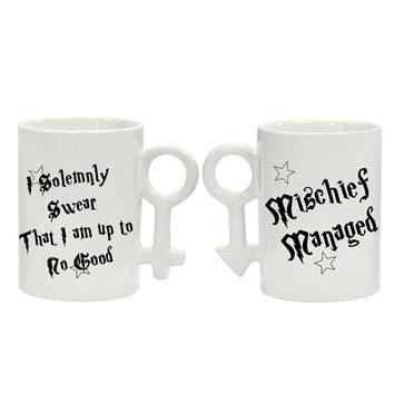 Harry Potter 2 mugs-Mischief Managed, I Solemnly Swear That I Am Up To No Good, two cups, gift for him and her, Mugs Harry Poter