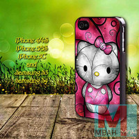 Hello Kitty - iPhone 4/4S, 5/5S, 5C and Samsung Galaxy s3, s4, s5 available rubber/plastic