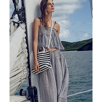 HOT SOFT TWO PIECE STRIPE SUIT