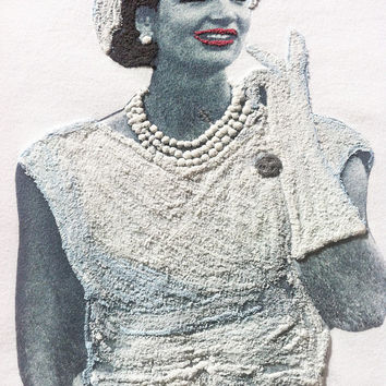 Jackie O Kennedy  T-shirt Jacqueline Kennedy  Onassis Painting 3D T shirt shirt Tshirt  also oversized