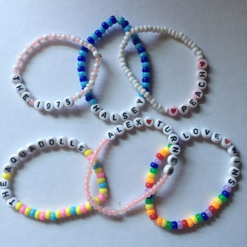 CUSTOM LETTER-BEAD bracelets, must be under 15 letters!!!