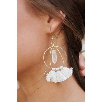 It's Innocent Drop Earrings (White)