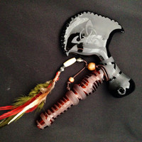 Tomahawk Glass Peace Pipe