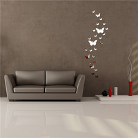 Acrylic Butterfly Design Mirror Effect Wall Sticker Artistic Room Decor