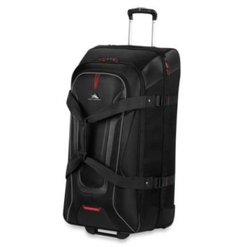 High Sierra AT-7 32-Inch Wheeled Carry-On Duffle with Backpack Straps in Black