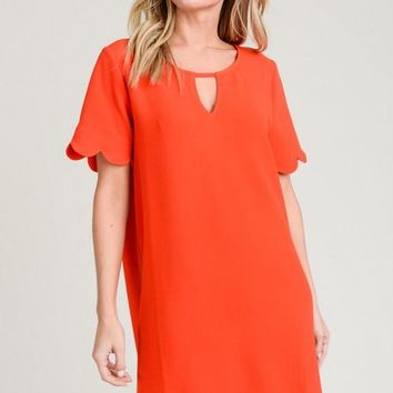 Wherever You Go Dress in Coral