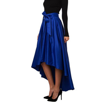 Custom Vintage Bow Belt Maxi Skirt