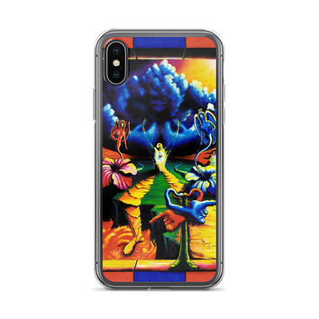 Trippy surreal ALL sizes iPhone Cases The Battlesoul by Vincent Monaco available for ALL iPhone models.