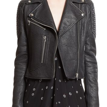 Proenza Schouler Pebbled Leather Moto Jacket | Nordstrom