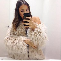 faux fur coats and jacket