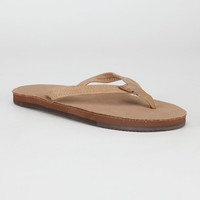 Rainbow Narrow Strap Womens Sandals Sierra Brown  In Sizes