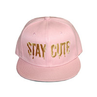 Pink and Gold Logo Snapback