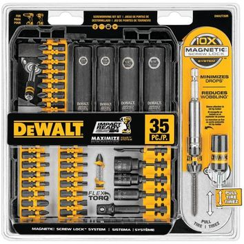 DEWALT(R) DWA2T35IR 35-Piece Impact Ready(R) Screwdriver Set
