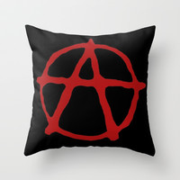 Anarchy Throw Pillow by brett66