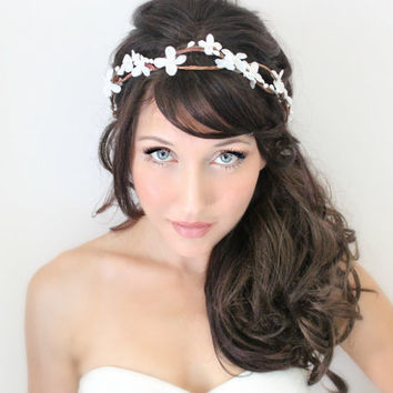 Flower Crown Wedding Tiara wedding accessories bridal by deLoop