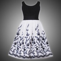 Rare Editions Girls PLUS Size BLACK WHITE GLITTER FLOCK FLORAL MESH OVERLAY Special Occasion Wedding Flower Girl Party Dress RRE-32650F-F532650-12.5