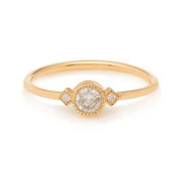 Champagne Diamond Sotto Voce Ring