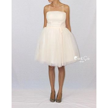 Audrey Wedding Tulle Dress - Midi (assorted colors)