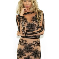 For Love & Lemons Desert Nights Mini Dress in Black | Boutique To You