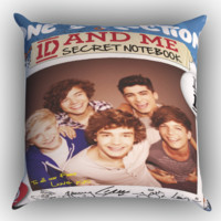 One Direction Live Love Move Collage X0024 Zippered Pillows  Covers 16x16, 18x18, 20x20 Inches