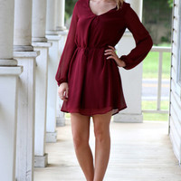 Jet Setting Dress - Maroon