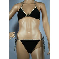 Burberry Fashion Halter Brassiere Underpant Set Two-Piece Bikini