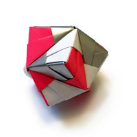 Origami Sturdy Ball: Pink, White, Silver