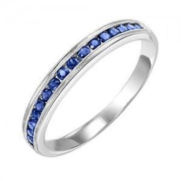 10k white gold sapphire channel set birthstone ring