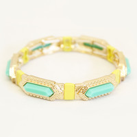 Mint and Gold Hathor Bracelet