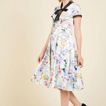 Fortune Favors the Maven A-Line Dress