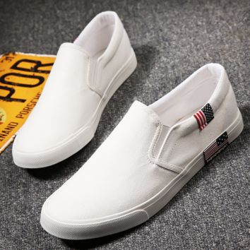 White Classic Canvas Leisure Shoes
