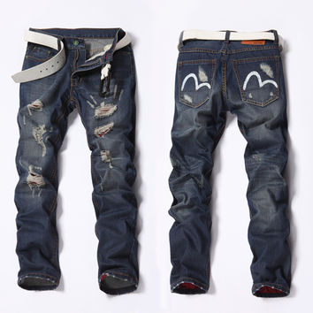Men Winter Denim Pants Jeans [6528424067]