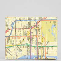 DYNOMIGHTY NYC Subway Map Wallet - Urban Outfitters
