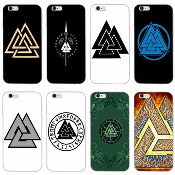 Viking warrior valknut odin logo slim silicone Soft phone case For iPhone 4 4s 5 5s 5c SE 6 6s plus 7 7plus 8 8plus X