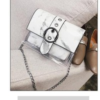 Clear Backpacks popular Summer PVC Plastic Quilted Chains Transparent Bag Candy Jelly Clear Beach Bags Composite Bag Handbag Women Clutch Purse AT_62_4