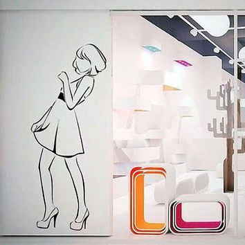 Wall Mural Art Decor Vinyl Interior Decorative Fashion Pencil Sketch 09 V52