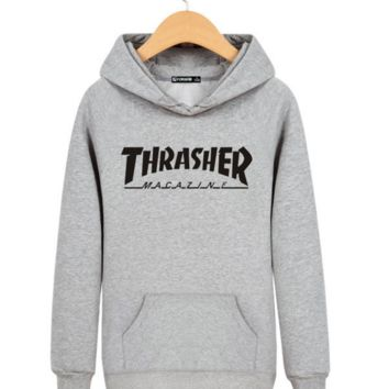 "Fashion Casual ""Thrasher"" Printed Unisex Pullovers Sweaters Hoodies"