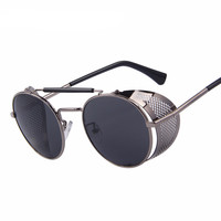 Retro Design Round Steampunk Sunglasses