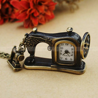 Antique Sartorius Pocket  Watch Necklace -Vintage Sewing Machine Necklace