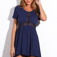 Sun Dancer Dress Navy