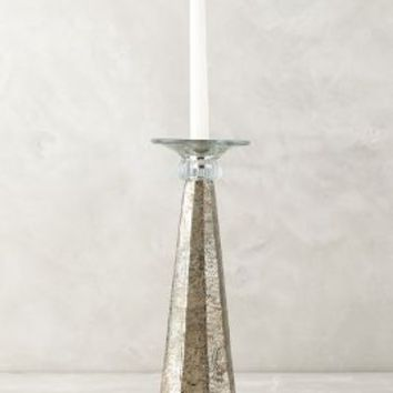 Speckledusted Taper Holder by Anthropologie in Silver Size: S Candles
