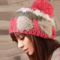 Perfect Ear Warm Fabric Bow Knitted Hat Beanie Cap Hat 6 Colors = 1695571204