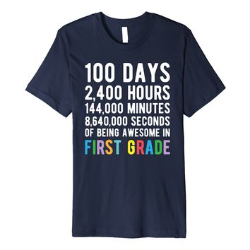100 Days of School Shirt First Grade Teacher