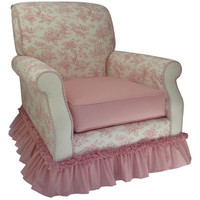 Angel Song 201021128Foam Toile Pink Adult Club Rocker Glider