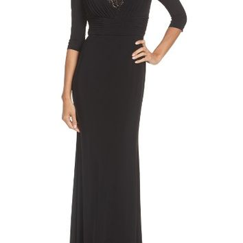 Adrianna Papell Embellished Shirred Gown   Nordstrom