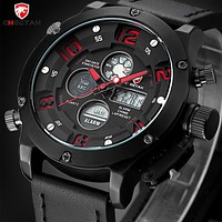 Top Men Watches Luxury Men's Quartz Hour Analog Digital LED Leather Sports Watch Men Army Military Wrist Watch