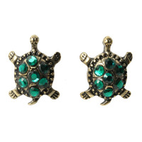 LOVEsick Bling Turtle Earrings