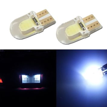 1pcs Ceramic Car Interior LED T10 COB 194 W5W Wedge Door Instrument Side Light Bulb Lamp Car Light Source 12V For Toyota Honda