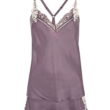 Lace And Satin Pyjama Set - Nightwear - Clothing