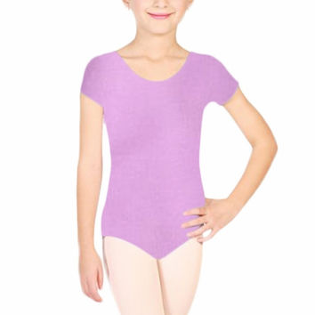 Hottest Kids Girl Cotton Short Sleeve Ballet Dancewear Costume - ALX-BB